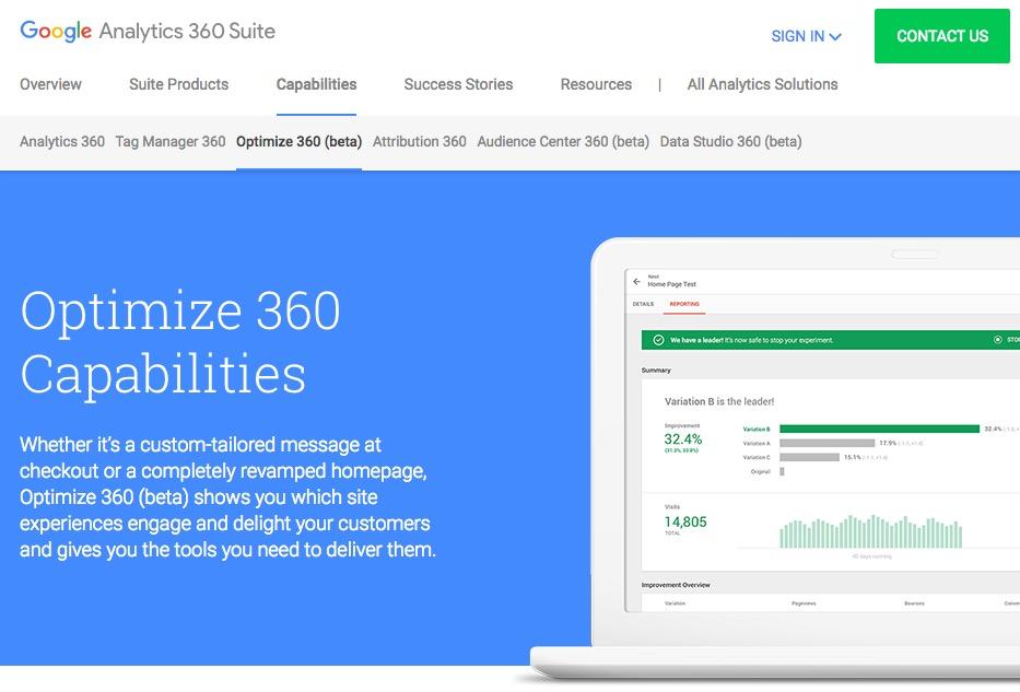Google オプティマイズ 360